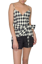 Six Crisp Days Gingham Wrap Tank - Product Mini Image