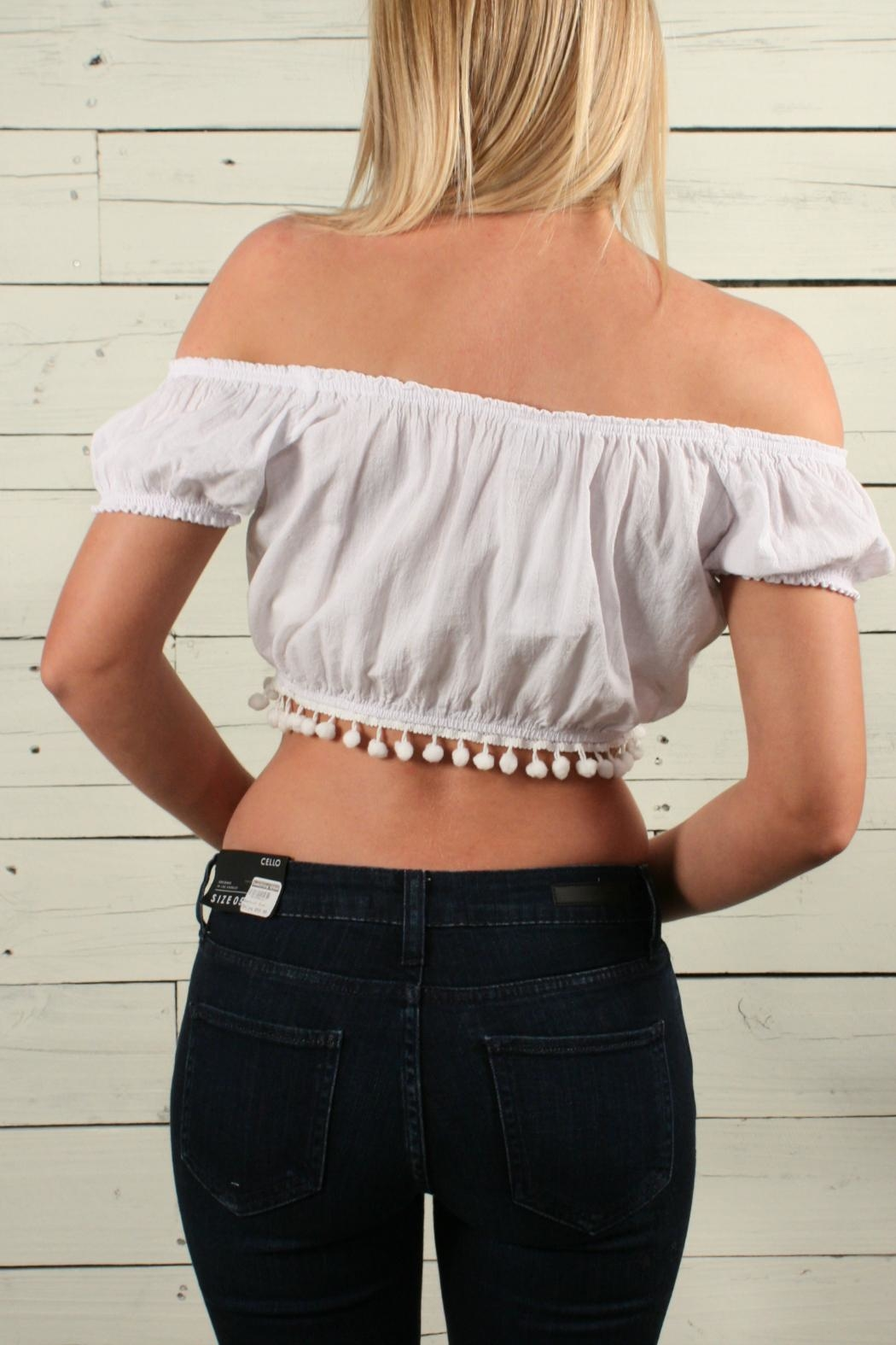 9dda7ba2ee3 Giocam White Pearl Crop Top from Fayetteville by Something Urban ...