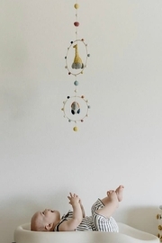 Pehr Designs Giraffe & Elephant Wool Hoop Ceiling Mobile - Product Mini Image