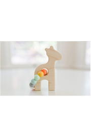 Bannor Toys  Giraffe Wooden Baby Grasping Toy - Front cropped