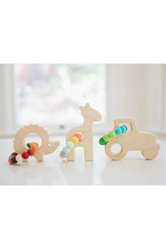 Bannor Toys  Giraffe Wooden Baby Grasping Toy - Alternate List Image