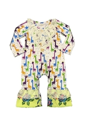 Lady Charm Giraffes Baby Romper - Front cropped