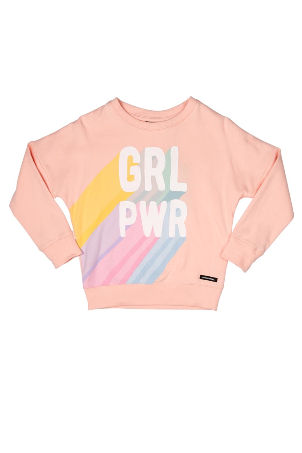 Rock Your Baby Girl Power Sweater - Front Cropped Image