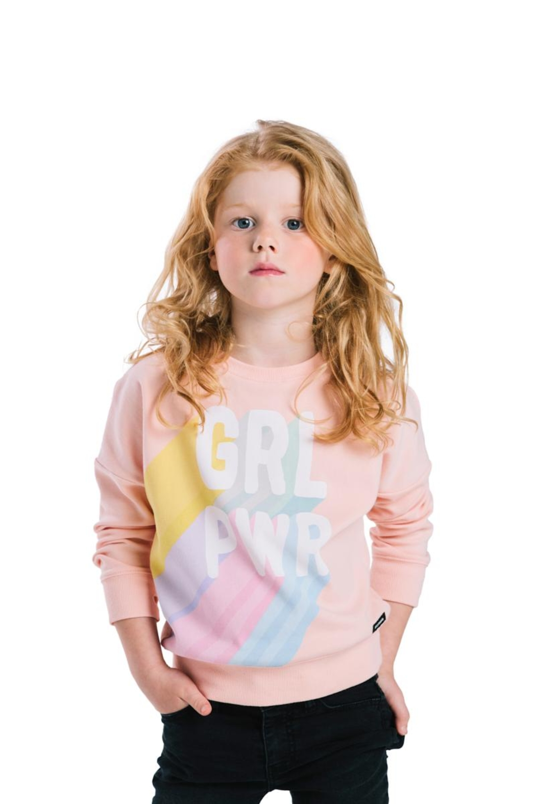 Rock Your Baby Girl Power Sweater - Side Cropped Image