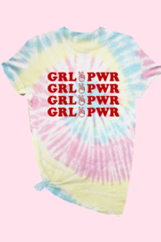 ALPHIA Girl Power Tie-Dye Tee - Front cropped