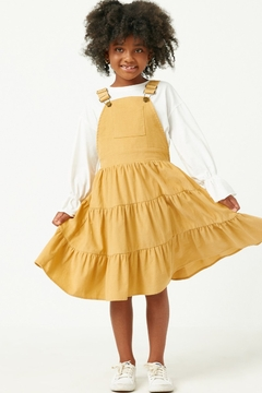 Hayden Los Angeles Girl's Corduroy Tiered Overall Dress - Product List Image
