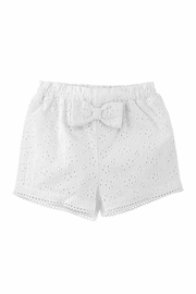 MUDPIE Girl's Eyelet Shorts - Front full body