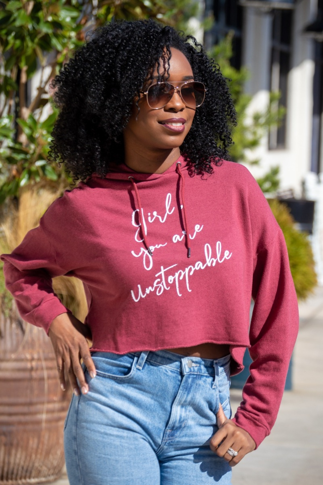 Good hYouman Girl You Are Unstoppable Anya Crop Hoodie - Main Image