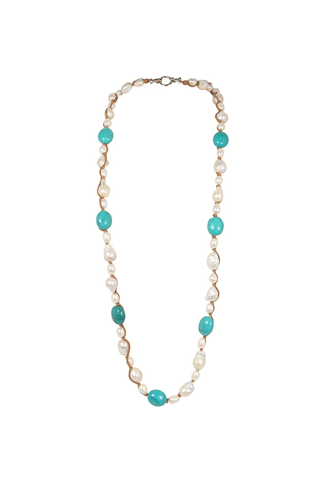Girl with a Pearl Hip-Chic Suede Necklace - Side Cropped Image
