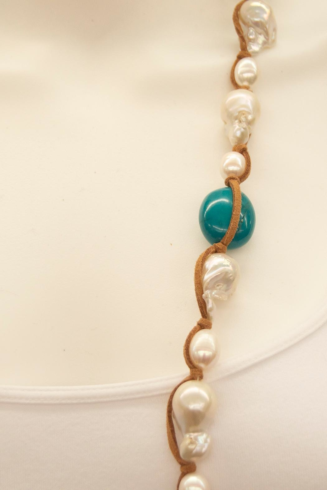 Girl with a Pearl Hip-Chic Suede Necklace - Front Full Image