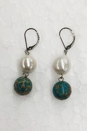 Girl with a Pearl Natural Jasper/pearl Earrings - Front cropped