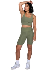 Girlfriend Collective High-Rise Bike Short - Front cropped
