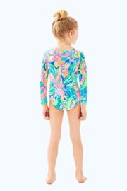 Lilly Pulitzer Girls Alaina Swimsuit - Front full body