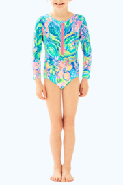 Lilly Pulitzer Girls Alaina Swimsuit - Front cropped