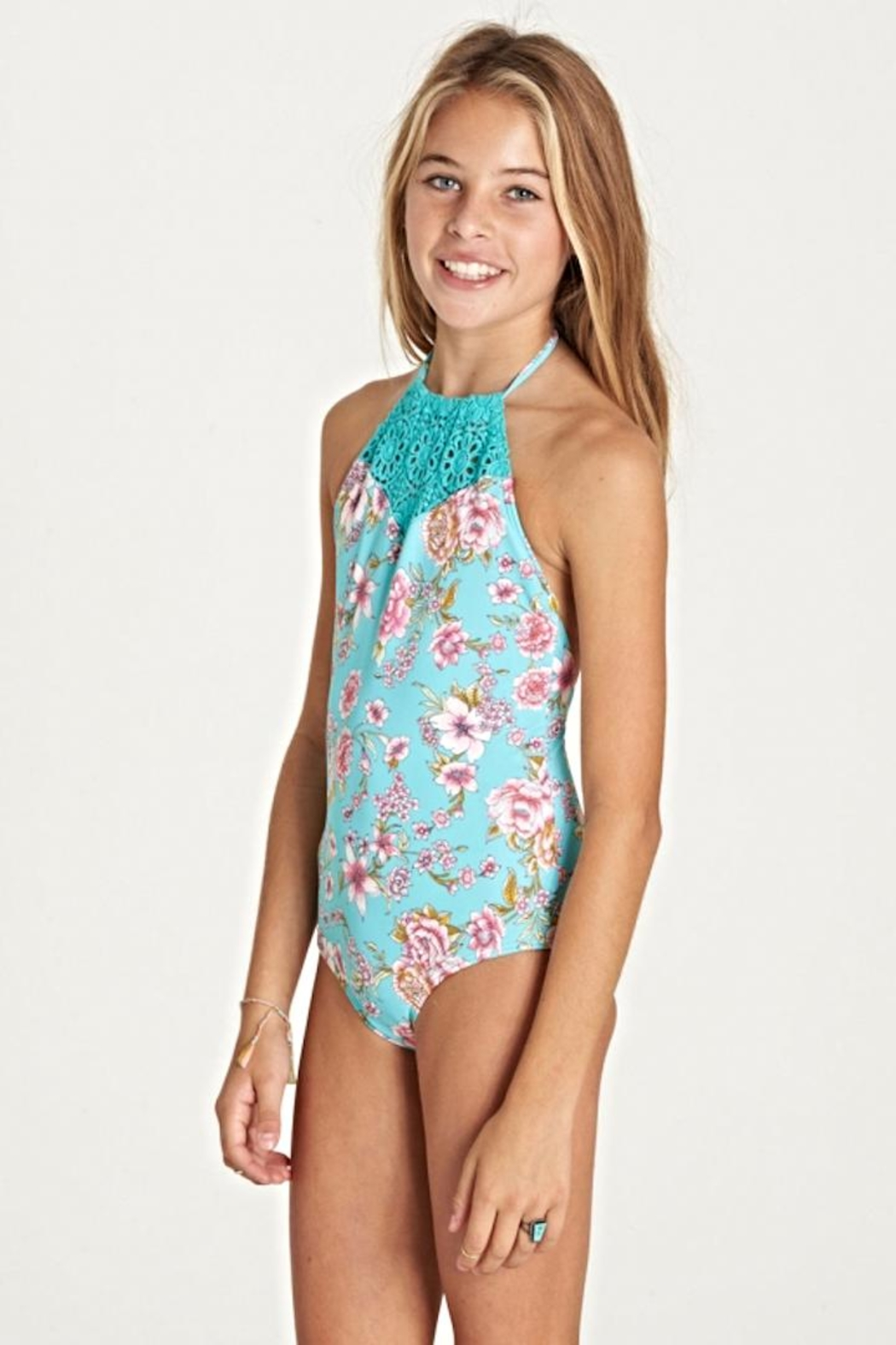 Billabong Girls Beauty 1-Piece - Front Full Image