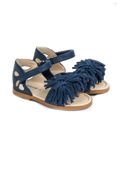 Shoptiques Product: Girls Blue-Fringed-Tassel-Sandals