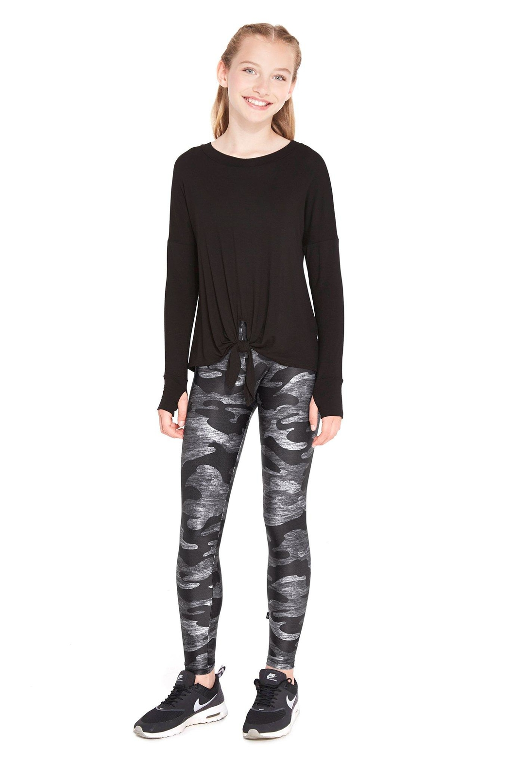 Terez Girls Camo Legging - Front Cropped Image