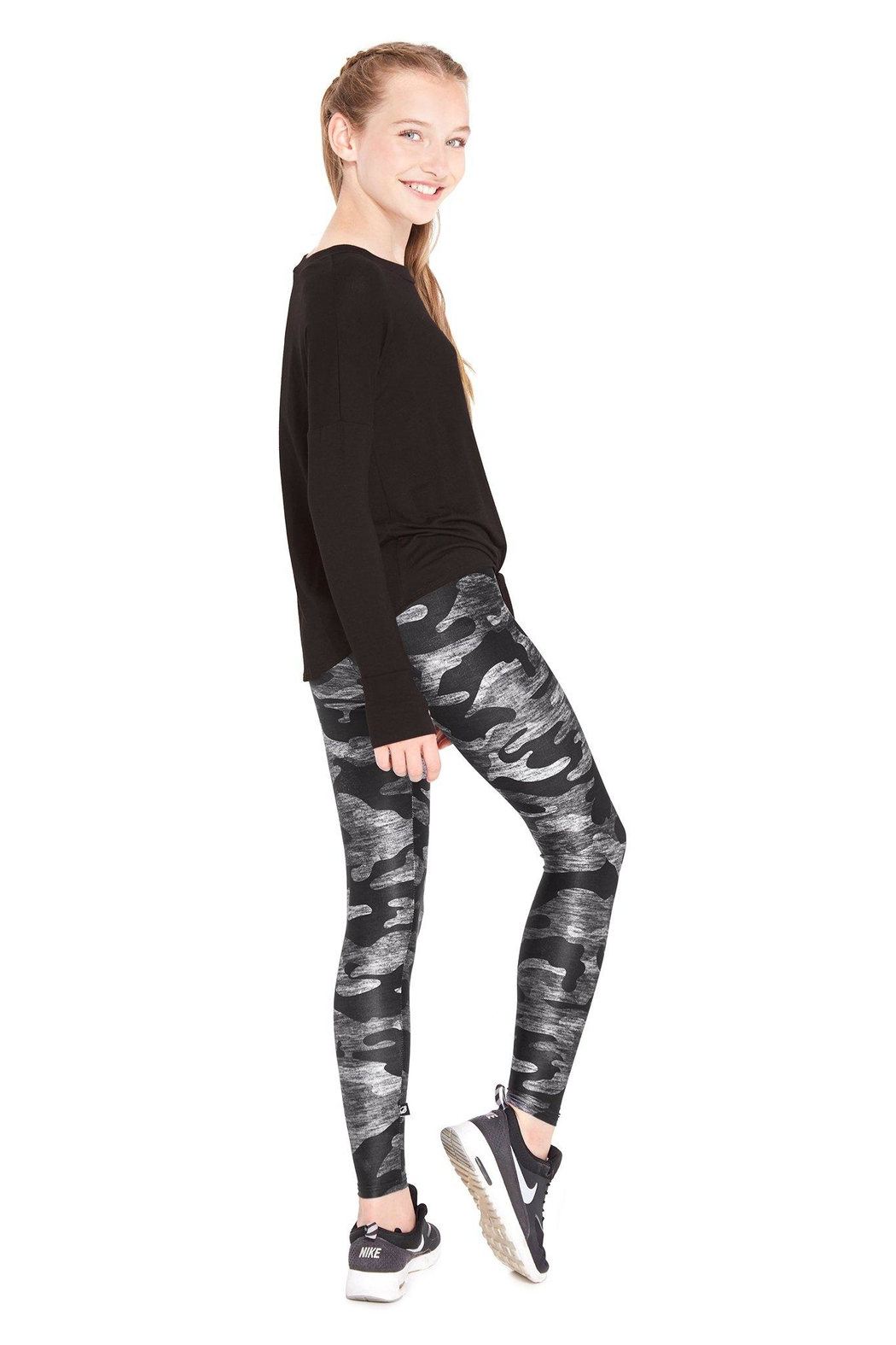 Terez Girls Camo Legging - Front Full Image