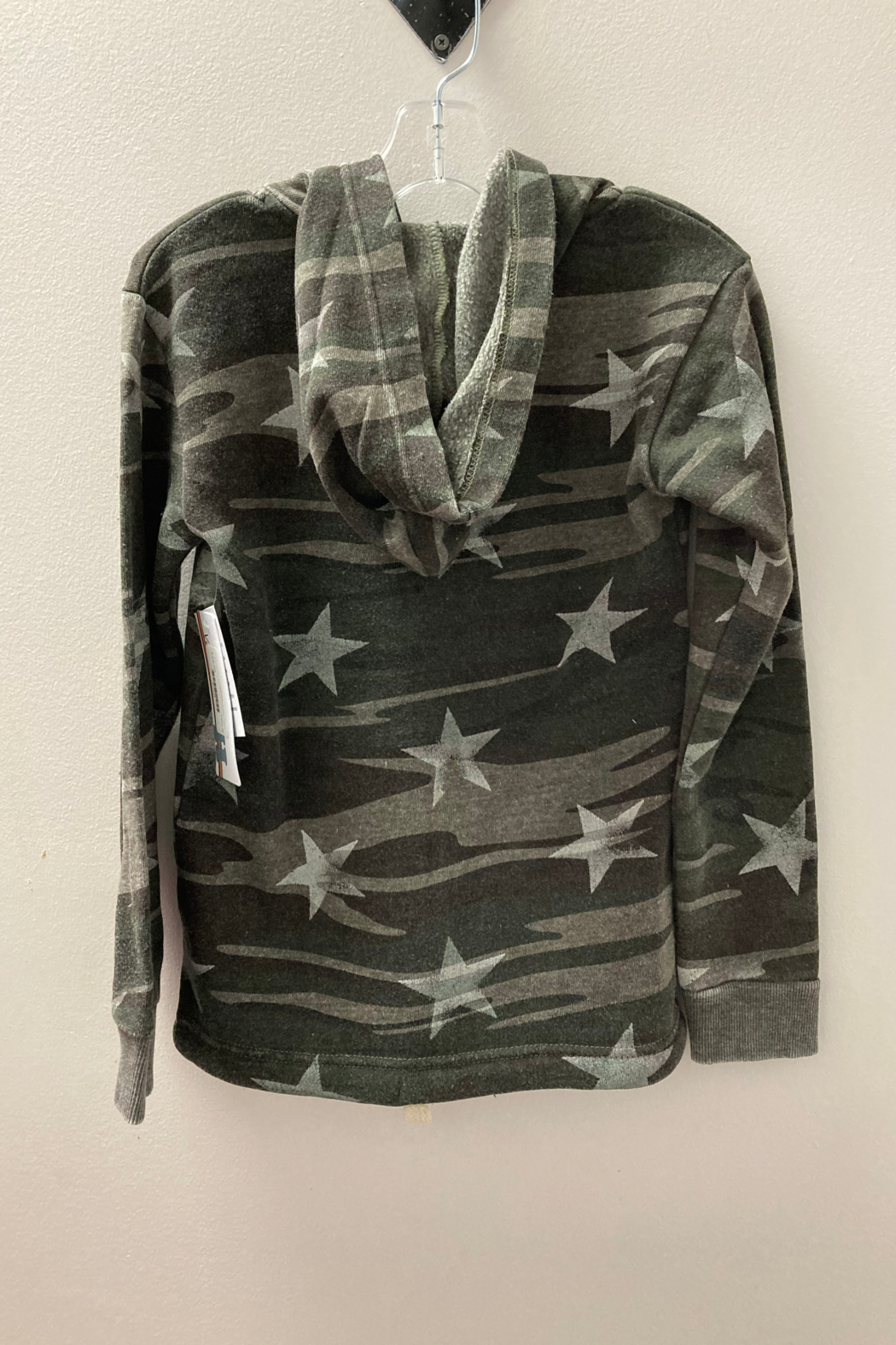Vintage Havana GIRLS Camo with Embroidered Star full zip hoodie - Front Full Image