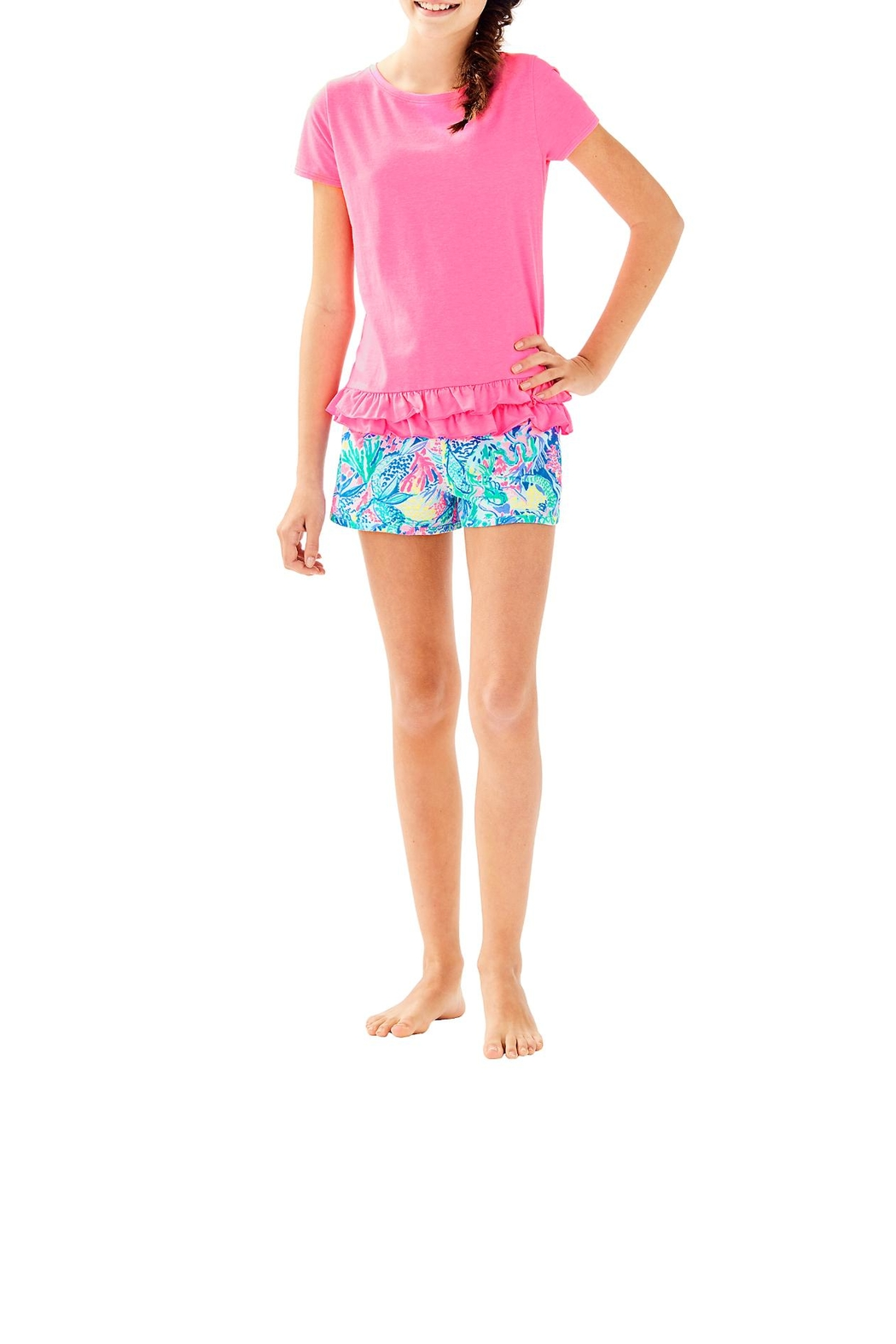 Lilly Pulitzer Girls Ceclie Short - Side Cropped Image
