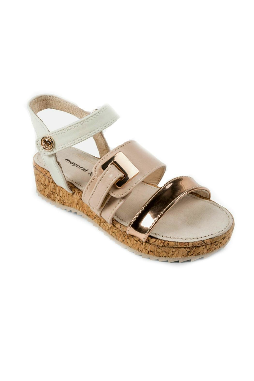 Mayoral Girls Cork-Platform Sandals - Main Image