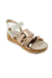 Mayoral Girls Cork-Platform Sandals - Front cropped