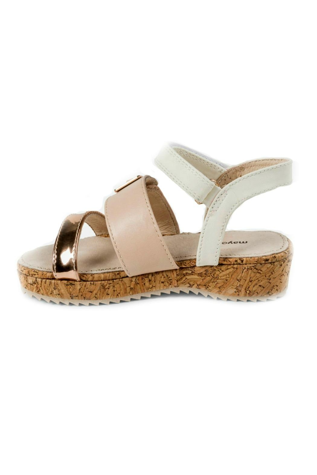 Mayoral Girls Cork-Platform Sandals - Front Full Image