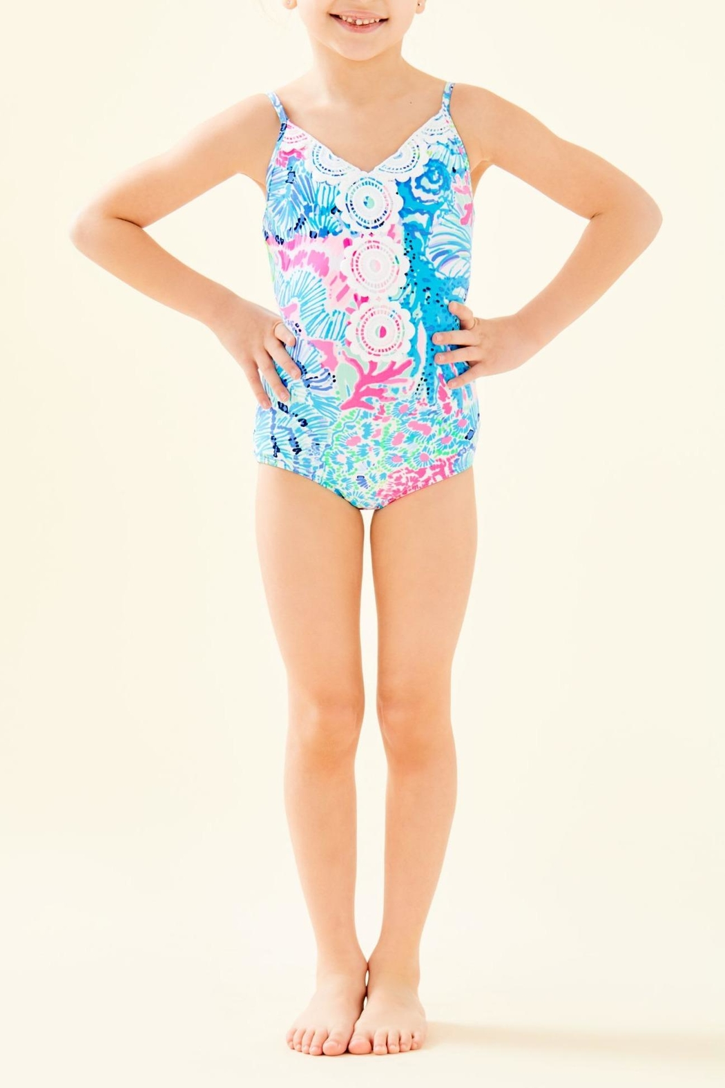 Lilly Pulitzer Girls Danica Swimsuit - Main Image