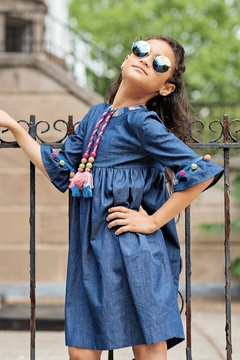 Shoptiques Product: GIRLS Denim Bohemian Dress
