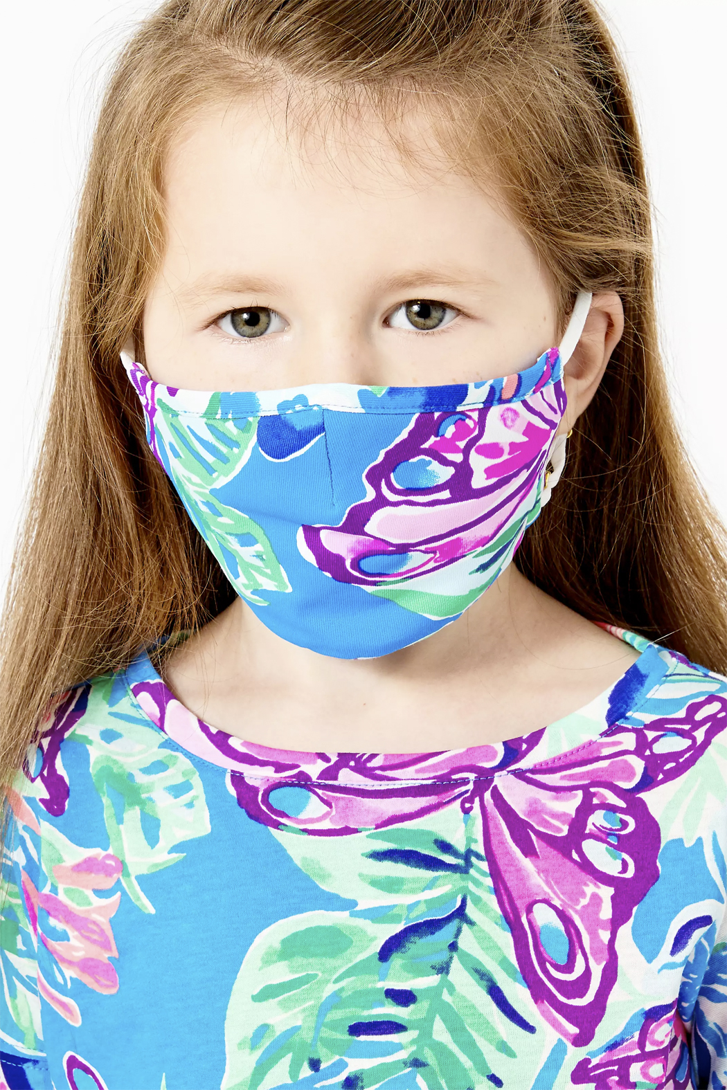 Lilly Pulitzer  Girls Face Mask-Set of 3 - Front Full Image