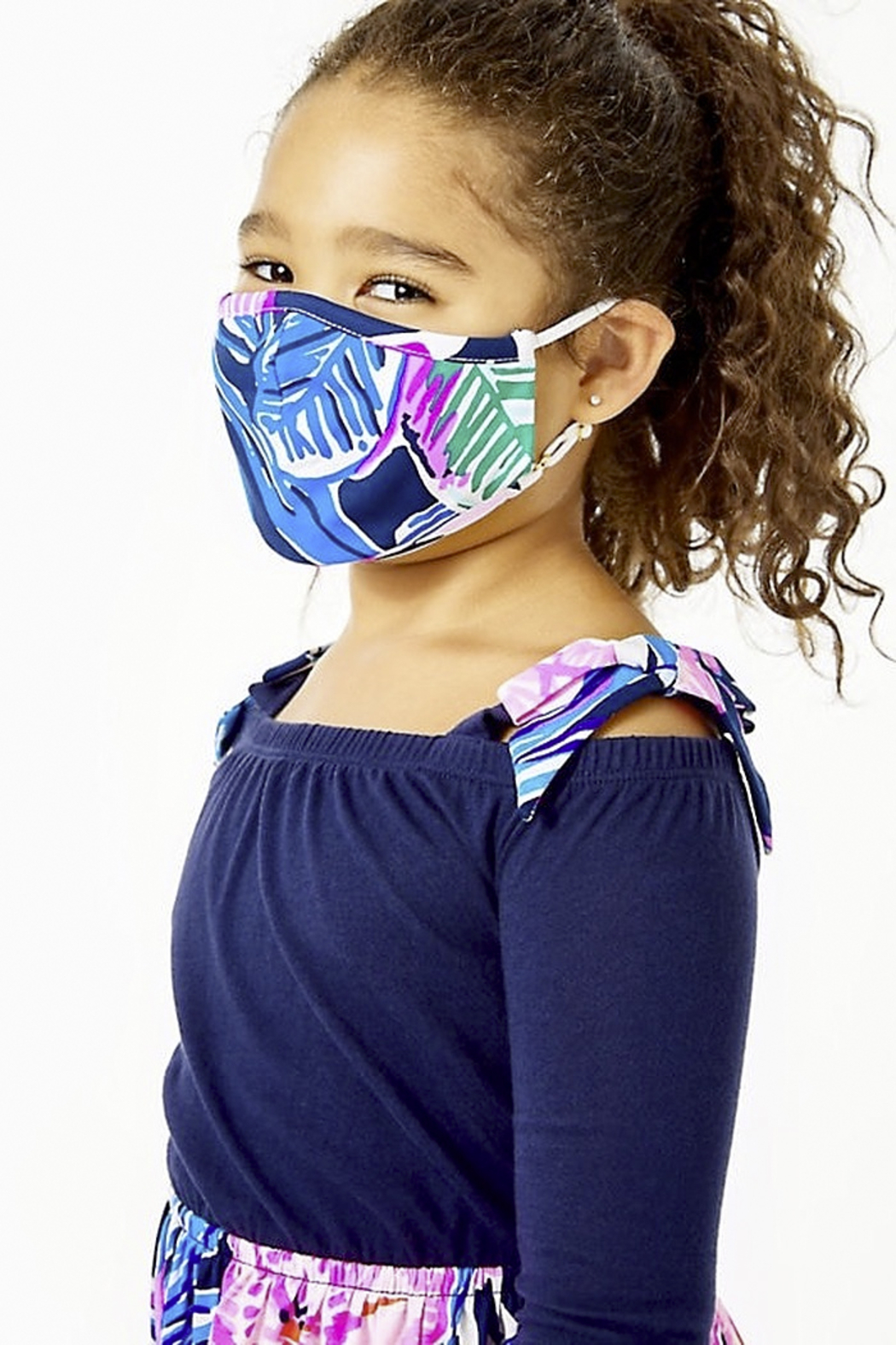 Lilly Pulitzer  Girls Face Mask-Set of 3 - Side Cropped Image