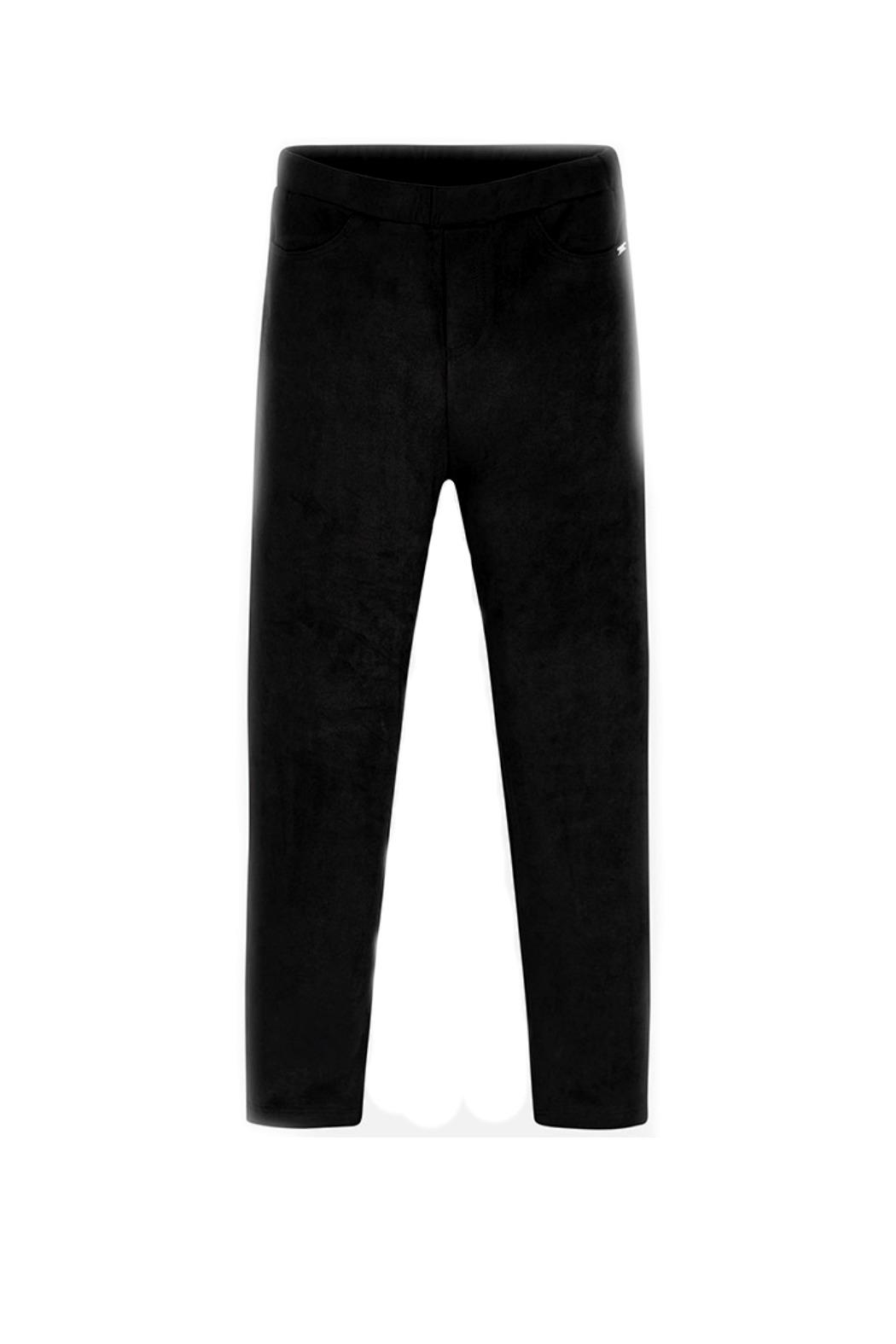 Mayoral Girls Faux-Suede-Charcoal Leggings - Main Image
