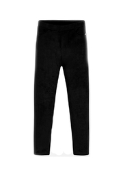 Mayoral Girls Faux-Suede-Charcoal Leggings - Front cropped