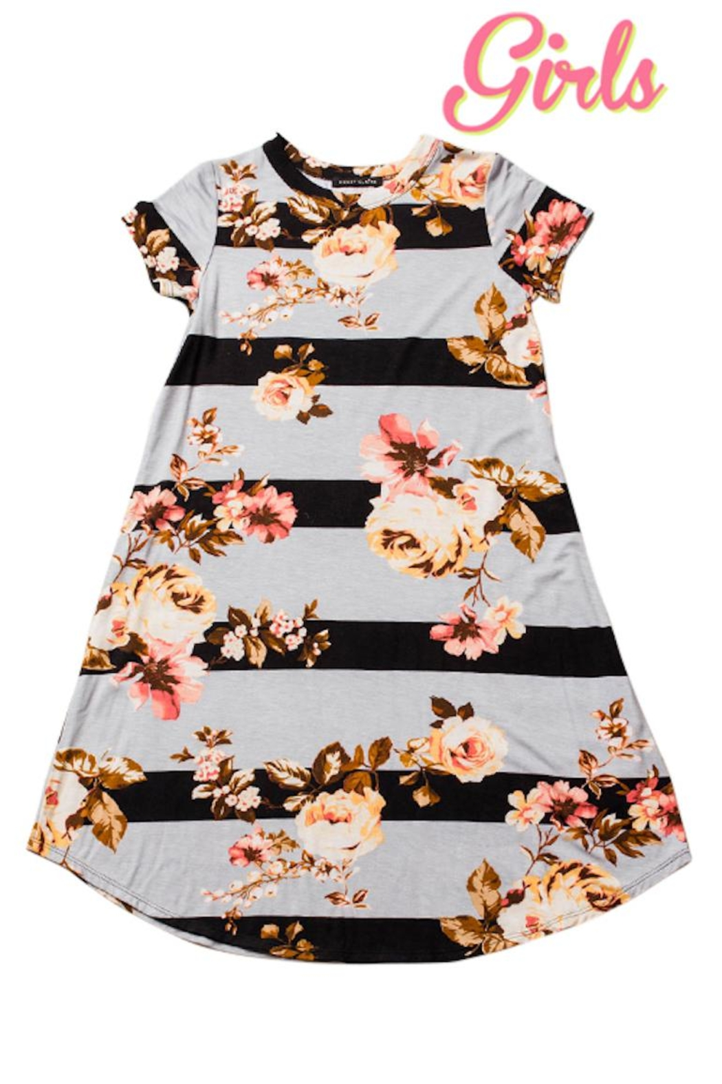 Sweet Claire Girls Floral Dress - Main Image