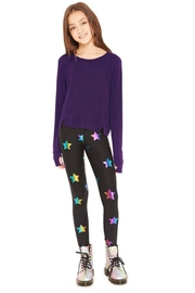 Terez Girls Foiled Legging - Front full body