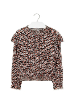 Shoptiques Product: Girls Geo-Dots-Pattern Blouse