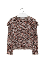 Mayoral Girls Geo-Dots-Pattern Blouse - Front cropped