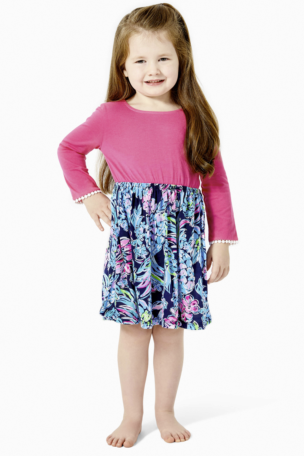 Lilly Pulitzer  Girls Giavanna Dress - Front Cropped Image