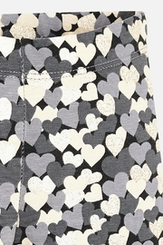 Mayoral Girls Heart-Themed Leggings - Front full body