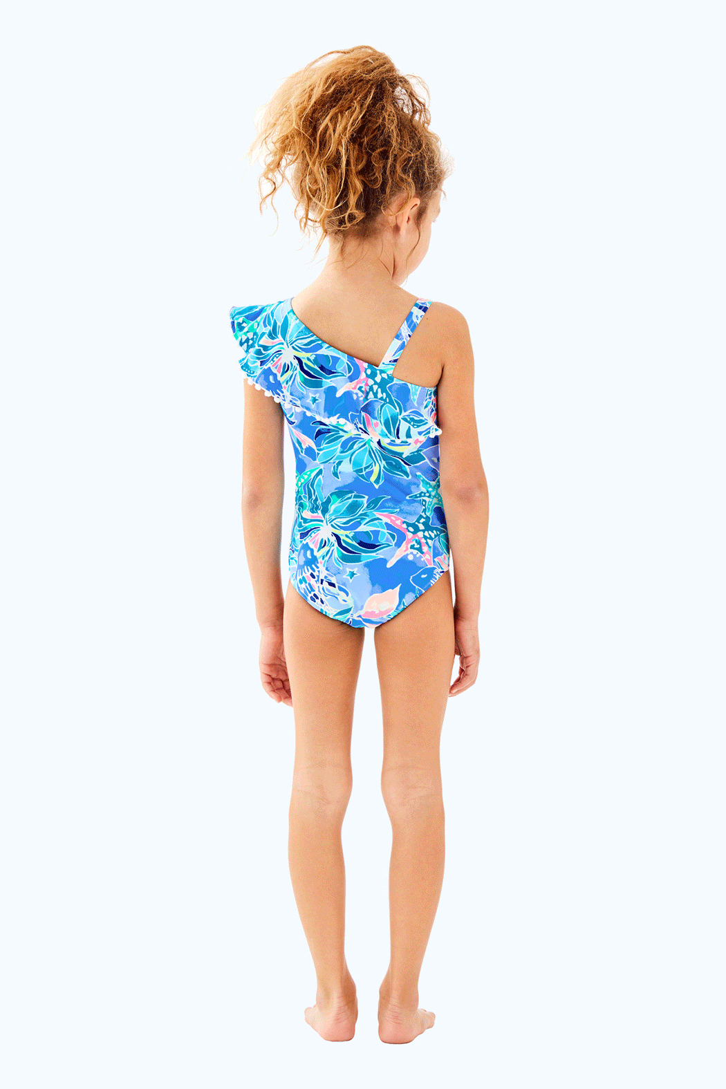 Lilly Pulitzer Girls Joni Swimsuit - Front Full Image