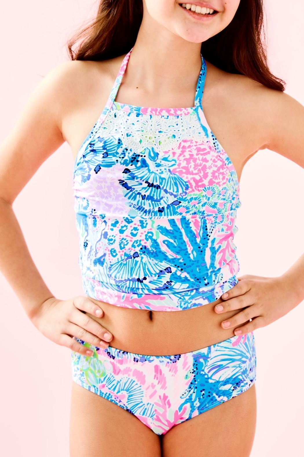Lilly Pulitzer Girls Kinley Tankini-Swimsuit - Main Image