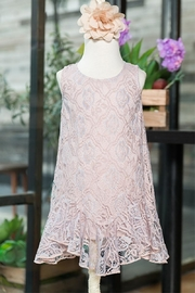 Vintage Style Children's Clothing: Girls, Boys, Baby, Toddler Girls Lace Dress $33.00 AT vintagedancer.com