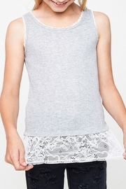 Hayden Girls Lace Tank - Front cropped
