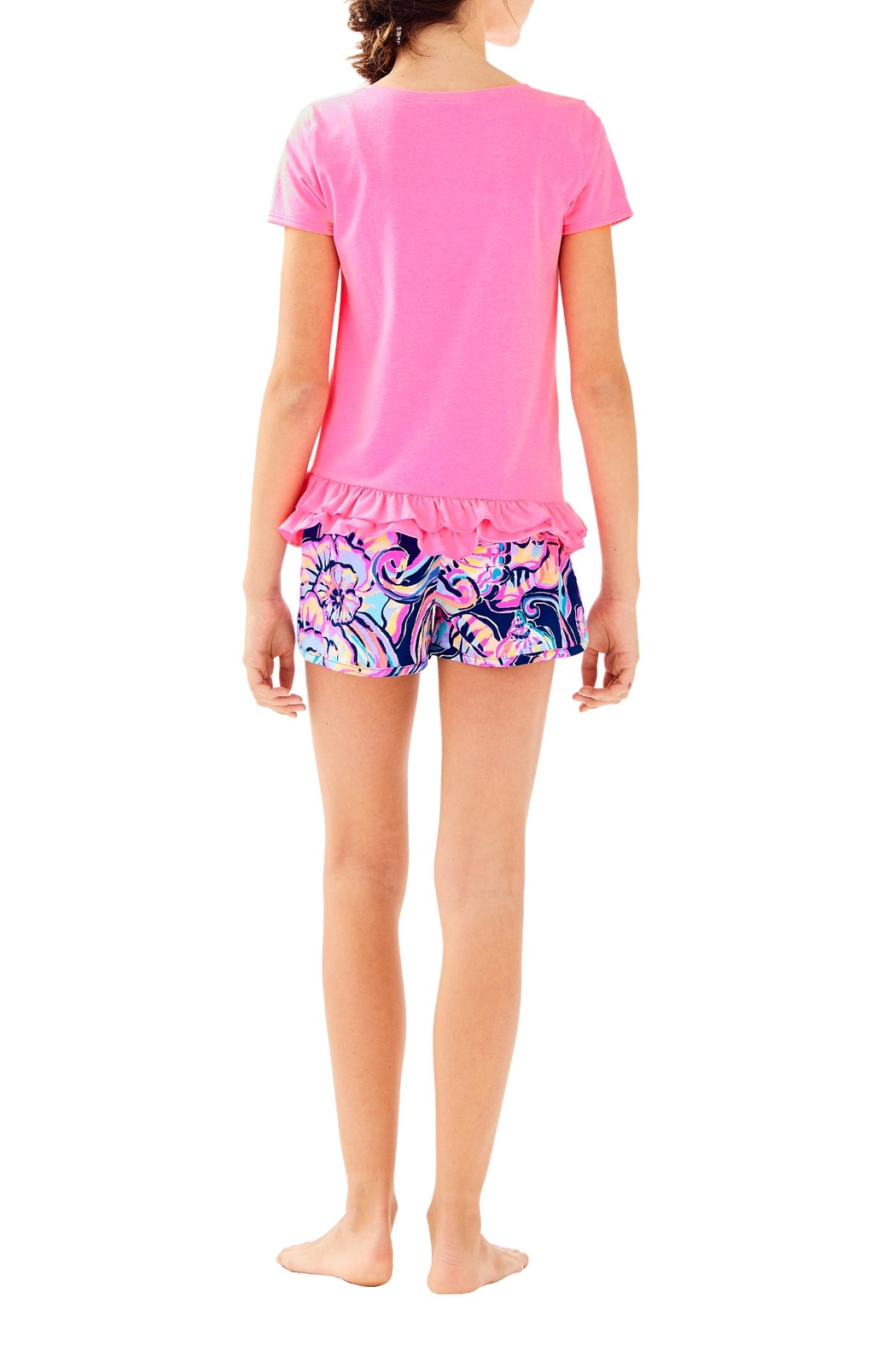 Lilly Pulitzer Girls Leightan Top - Back Cropped Image