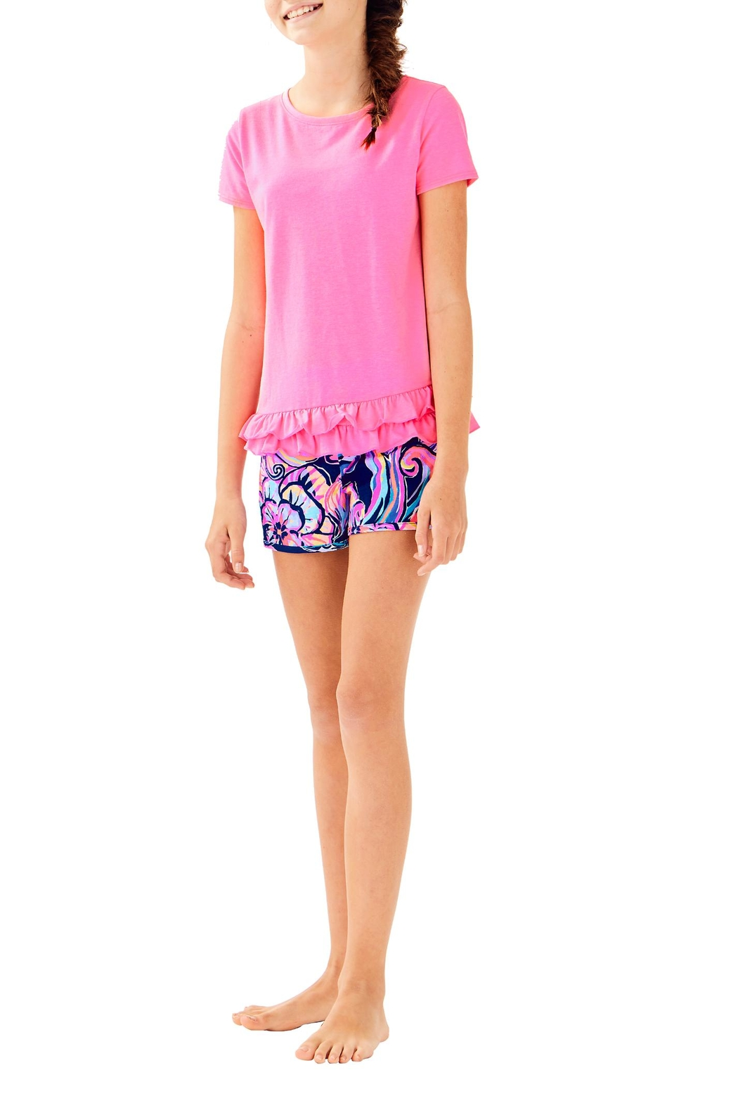 Lilly Pulitzer Girls Leightan Top - Side Cropped Image