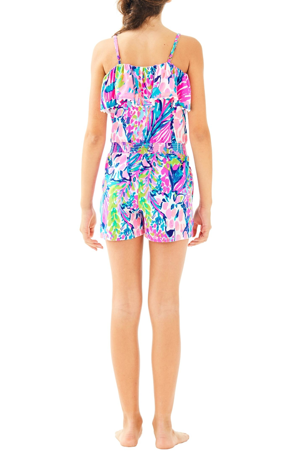Lilly Pulitzer Girls Leonie Romper - Back Cropped Image