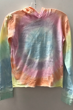 Shoptiques Product: GIRLS Light Weight Tie Dye Hoodie