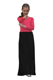 Kosher Casual Girls Maxi A-Line Skirt - Front cropped
