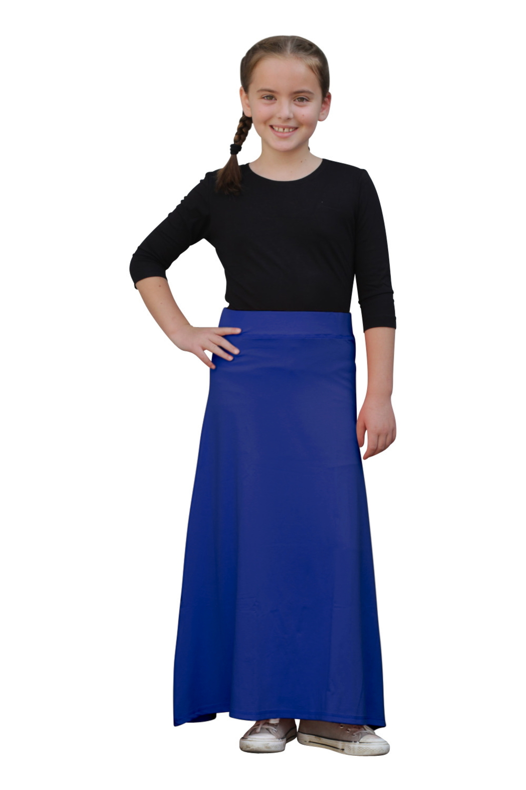 Kosher Casual Girls Maxi A-Line Skirt - Front Cropped Image