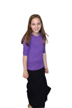 Kosher Casual Girls Maxi Skirt Flowing A-Line - Alternate List Image